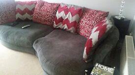 Grey large cuddle sofa