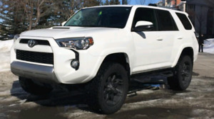 Like new, low kms, 2016 toyota 4runner trail edition