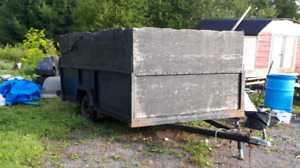 Utility Trailer made from Metal Camper Frame