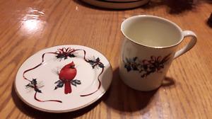 Lenox assiette à pain et mug à café / bread plate & coffee mug