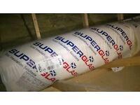 Rolls of loft insulation.