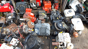Large inventory of used lawn and cycle or project engines