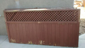 6pcs of used 8'by4'  cedar fence panels
