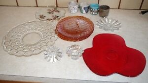 TONS of decorative Glassware, plates, bowls, candle holders