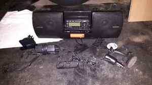 Sirius XM Car Stereo and Portable Boom Box with Aux Out