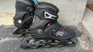 Womens size 9 roller blades