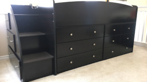 Excellent condition Cozy Loft bed with dressers