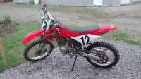 2004 HONDA CRF 230 IN REALLY GOOD CONDITION!  LOW USAGE!