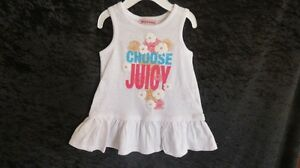 2 Pce Juicy Couture Dress & Panty White Logo  Size 6-12 Mths
