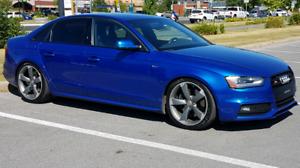 Audi S4 bleu Technik Black Optique avec Sport Différentiel