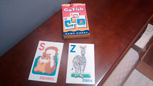 Incomplete set of Go Fish cards.