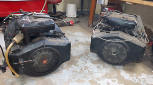 Two 16hp opposed twin briggs and stratton