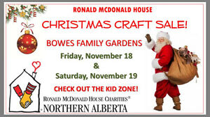 2nd Annual Christmas Craft show supporting Ronald McDonald House