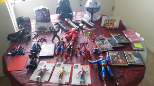 Garage Sale SUPERHEROES and TOYS Spiderman , Star Wars Toy Story