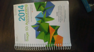 2014 SAGE 50 ACCOUNTING TEXTBOOK FANSHAWE COLLEGE