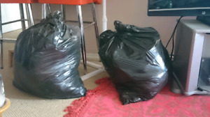 two bags of woman's clothes, shoes, assorted