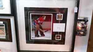Ken Dryden Montreal canadians signed card and piece of stick.
