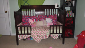 Convertible 4-in-1 Crib Sleep System to Full-size bed.