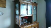 RARE beautiful china cabinet with glass sides n light