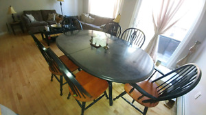 Beautiful Black and brown Dinning table 9 pieces