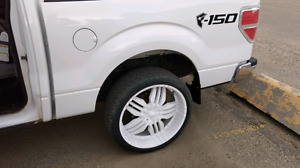 """24"""" rims and rubber for sale or trade"""