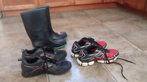Selling boys sneakers and rubber boots