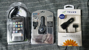 CAR CHARGERS FOR IPHONE 4, 4S AND 3GS