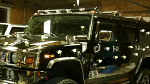 """2003 hummer h2 fully chrome with 4""""lift"""