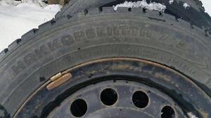 Studded Nokian Hakkapelitta winter tires