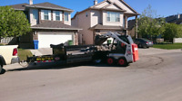 Mini bobcat and trailer for hire