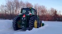 BIG JOHN DEERE TRACTOR AND PLOW I NEED WORK