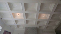 Plaster Moulding for Beamed Coffered Waffle Ceilings Design