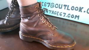 8 hole brown leather  Doc Martin boots