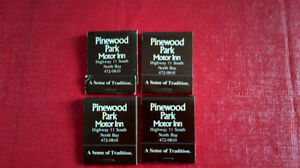 Matchbook Covers-Pinewood Park Motor Inn, North Bay Kitchener / Waterloo Kitchener Area image 1
