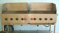 6ft double stainless steel bbq