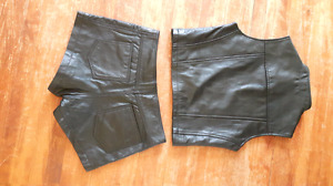 Leather Short Pants and Top