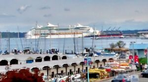 Watch the Cruise Ships From Your Balcony!