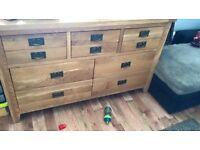 BARGAIN!! Solid oak sideboard .