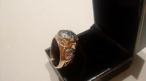 Versace Big  ring bicolore gold