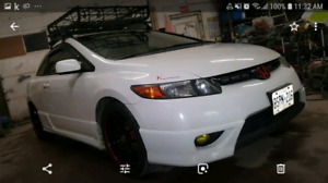 Honda civic 2008 white exl 5spd