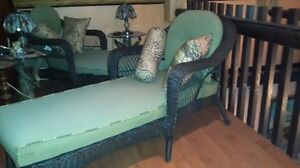 Brown wicker lounging chairs Cornwall Ontario image 4