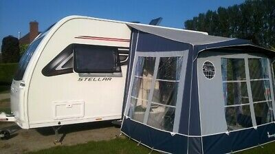 Isabella Minor Awning by Ventura - Blue, with Groundsheet; Curtains; Carry Bag
