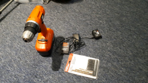 Cordless black and decker drill with bits