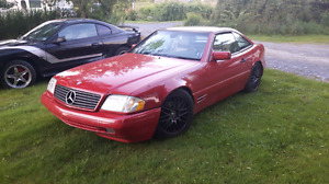 97 SL500 mercedes benz and 95 mustang gts