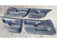 BMW E36 M3 Saloon Black Leather Door Cards Wooden Handles 325tds 328i 323i 318i