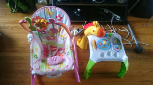Girls Baby rocker and table play stand