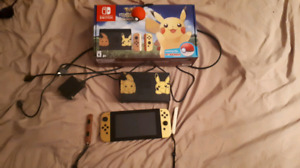 Let's go pickachu nintendo switch bundle. Used