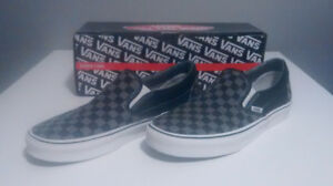 Vans slip-on checkerboard black/pewter grey, Men's 10