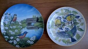 2 Blue Bird Collector Plates, the pair for $5