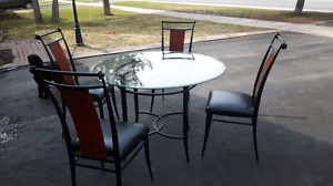 Glass Top Table - Excellent Condition